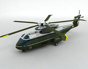 Marine One US 101 Helicopter 3D asset