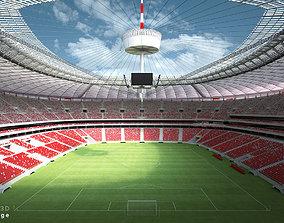 Soccer Stadium NW 3D model