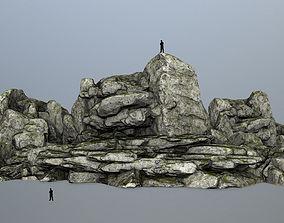 rocks 3D asset low-poly mosy