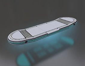 Futuristic Hoverboard 3D model