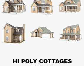 Hi-poly cottages collection vol 10 3D model