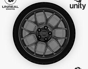 3D model Wheel Steel-Chrome Dark Alloy Rim Audi 3