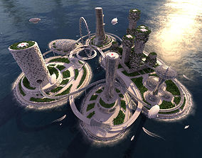 Future City and urban traffic 3D