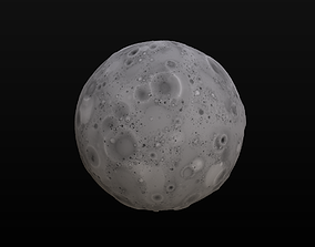 3D model Stylized Moon or Asteroid PBR Texture and