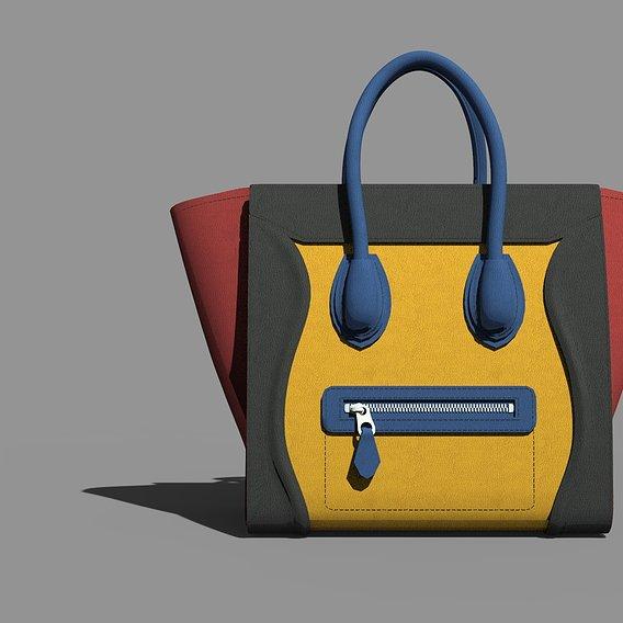 Celine Tri Color Bag in lowpoly!