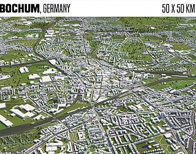 topography Bochum Germany 3D model