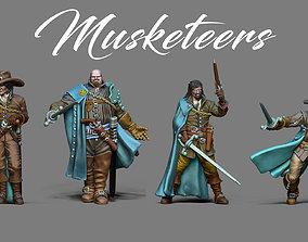 3D printable model Musketeer bundle - 4 musketeers 35mm