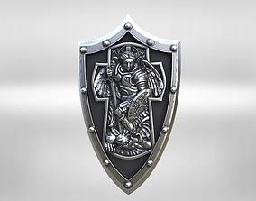 archangel Michael cross shield 3D printable model