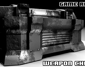 3D model Game Ready Weapons Ammo Chest