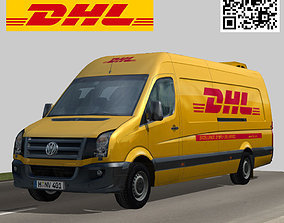 Volkswagen DHL delivery bus 3D model