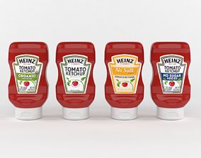 Ketchup Bottles Heinz 3D model