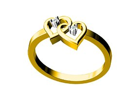 rings heart ring 3D print model