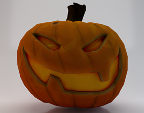 3D model Halloween Pumpkin - Jack-o-lantern