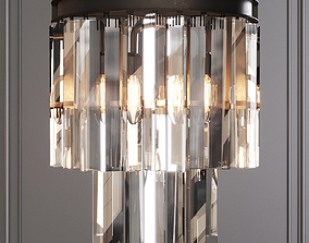 RH 1920S ODEON CLEAR GLASS FRINGE SCONCE Black 3D