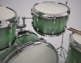 Detailed Drum Kit Model