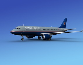 Airbus A320 United Airlines 1 3D model