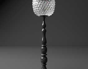 Table Lamp 3D model swarowski PBR