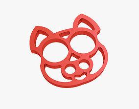 Brass knuckles cat 3D print model