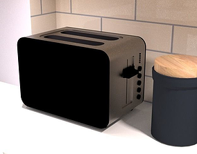 electric toaster 3D asset