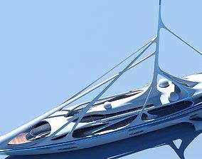 Futuristic Yacht 01 3D model