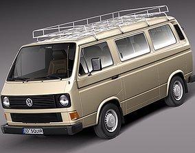 3D Volkswagen T3 Passenger 1979-1988