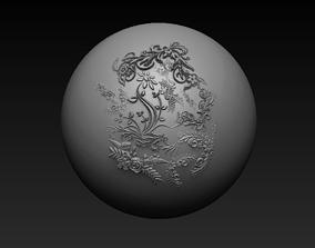 Floral VDM Brush Set 01 3D model