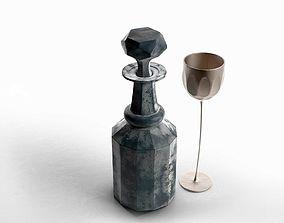 3D model Stemmed Glass and Decanter