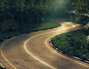 3D model Realistic road