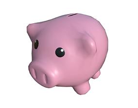 3D model realtime Piggy bank pig