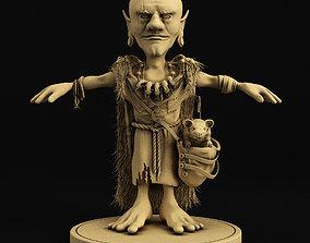 3D model Goblin character lowpoly