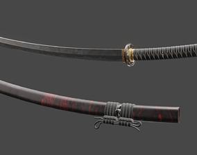 3D model New Samurai Katana with texture