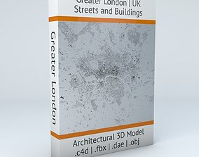 Greater London Streets and Buildings 3D model