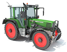 Fendt Farm Tractor 3D model land
