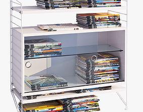 3D model String bookshelf and journals