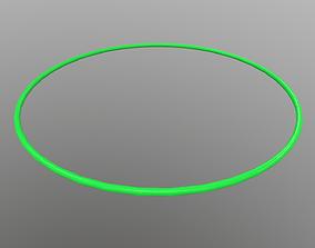 Hulahoop Green 3D model