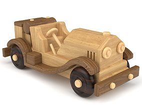 3D Wooden toy car 48