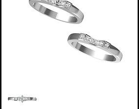 Cheap bridal set rings cad bridal set ring 3D print model