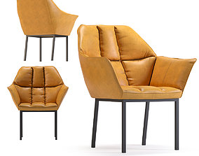 3D model Chair with Armrest Thinktank Brown