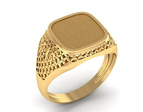 3D print model male signet with filigree