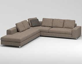 Dark Grey Sofa 3D