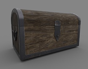 3D asset low-poly box Chest