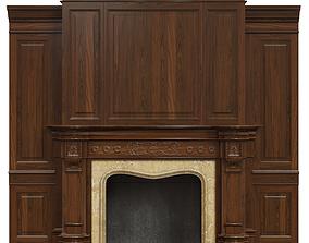 Classic fireplace 05 3D