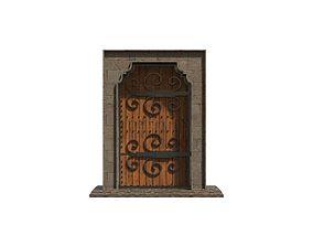 3D asset Medieval Roman Door