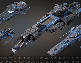 3D asset Spaceship Collection