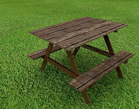 table 3D Picnic Table