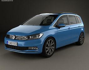 3D model Volkswagen Touran 2015