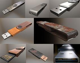 3D asset USB Stick Collection - Gameready - PBR Textures
