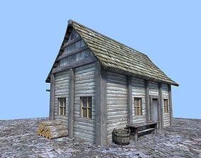 3D model medieval hut