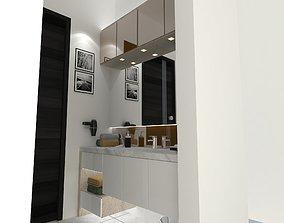 Apartment Basin Area 3D asset