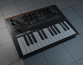 Midi Keyboard 3D asset